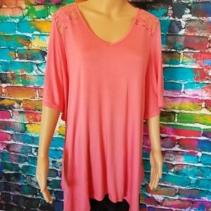 NWT beautiful blouse with lace insert